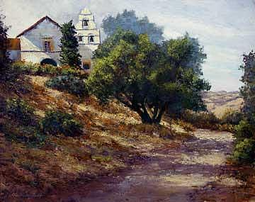 El Camino Real Painting by Donald Neff