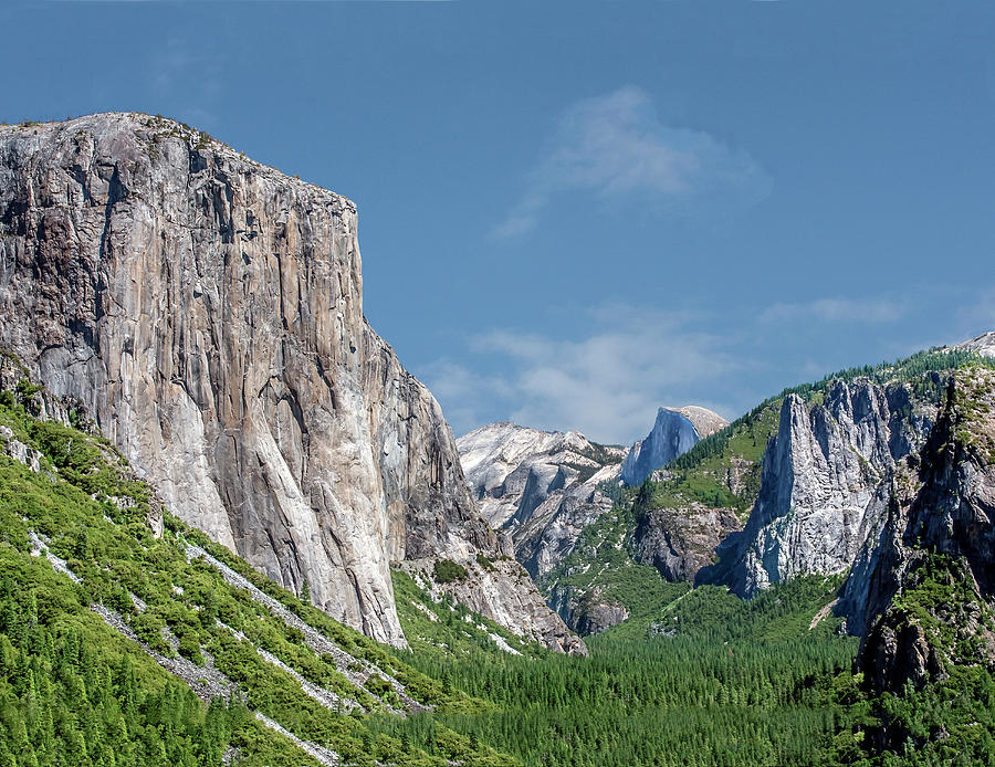 El Capitan, Three Brothers and Half Dome by William Bitman