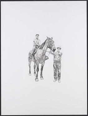 Horse Drawing - El Consentido by Antonio Pelayo
