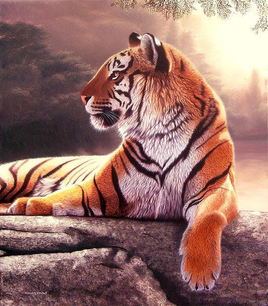 Tiger Painting - El Dorado by Sergio Gaspar