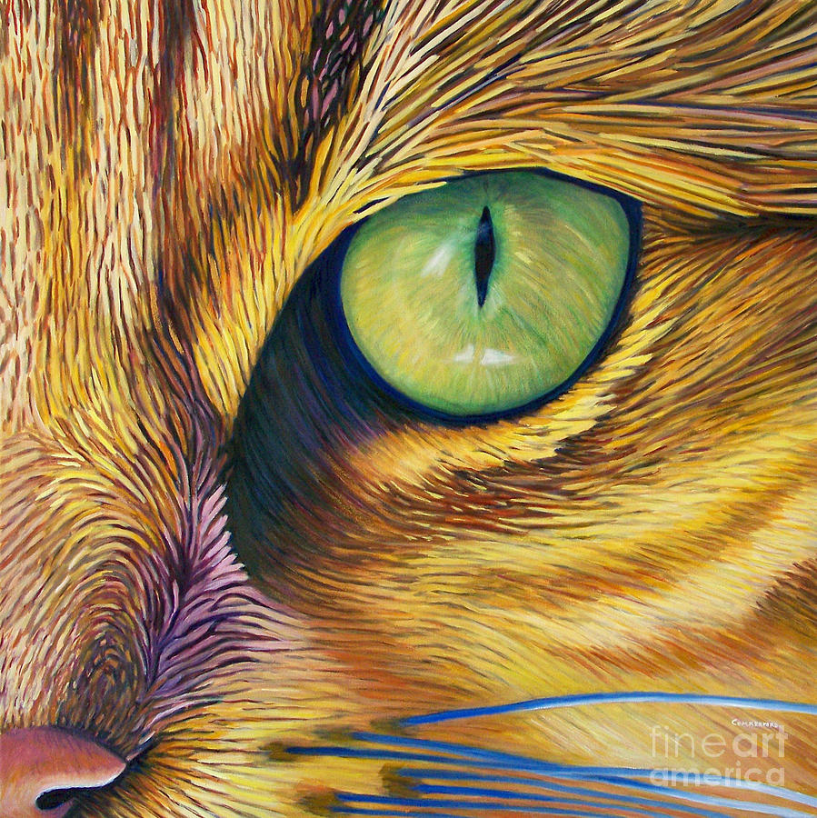 Cat Painting - El Gato by Brian  Commerford