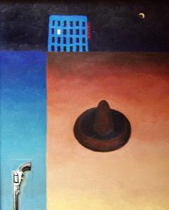 Oil Painting Mixed Media - El Hotel Azul by Peter Stephen Wise