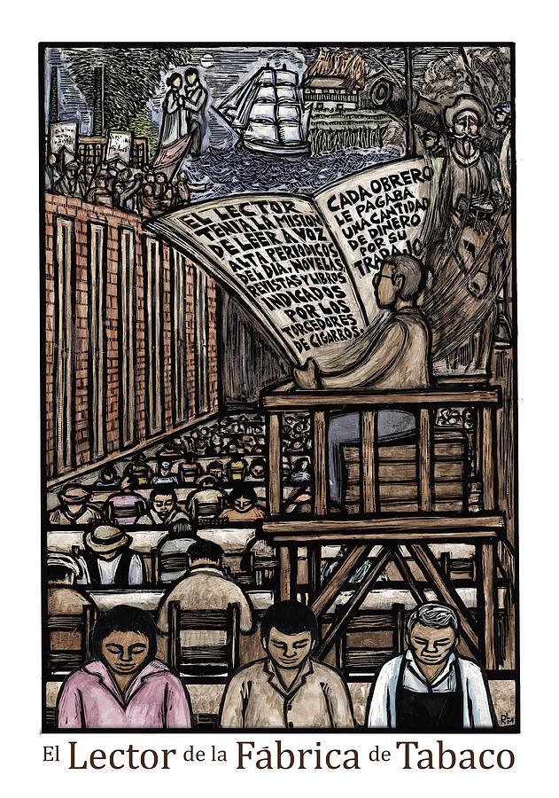 Lector Mixed Media - El Lector by Ricardo Levins Morales