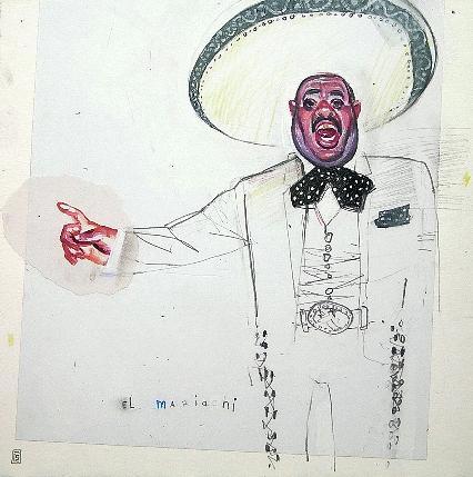 Mixed Media Painting - El Mariachi by Seyo Cizmic