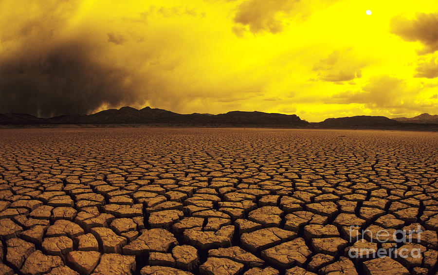 Afternoon Photograph - El Mirage Desert by Larry Dale Gordon - Printscapes