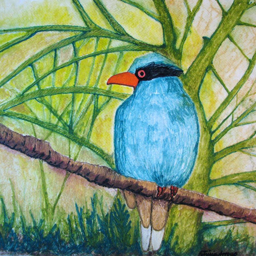 Nature Painting - El Pajaro Del Agua Azul  by Patricia Arroyo
