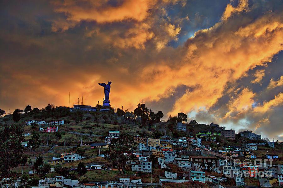 El Panecillo at Sunset - Quito, Ecuador by Sam Antonio Photography