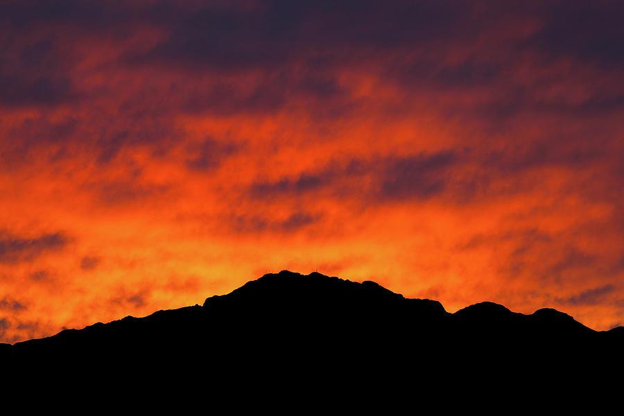 El Paso Fiery Sunset Photograph
