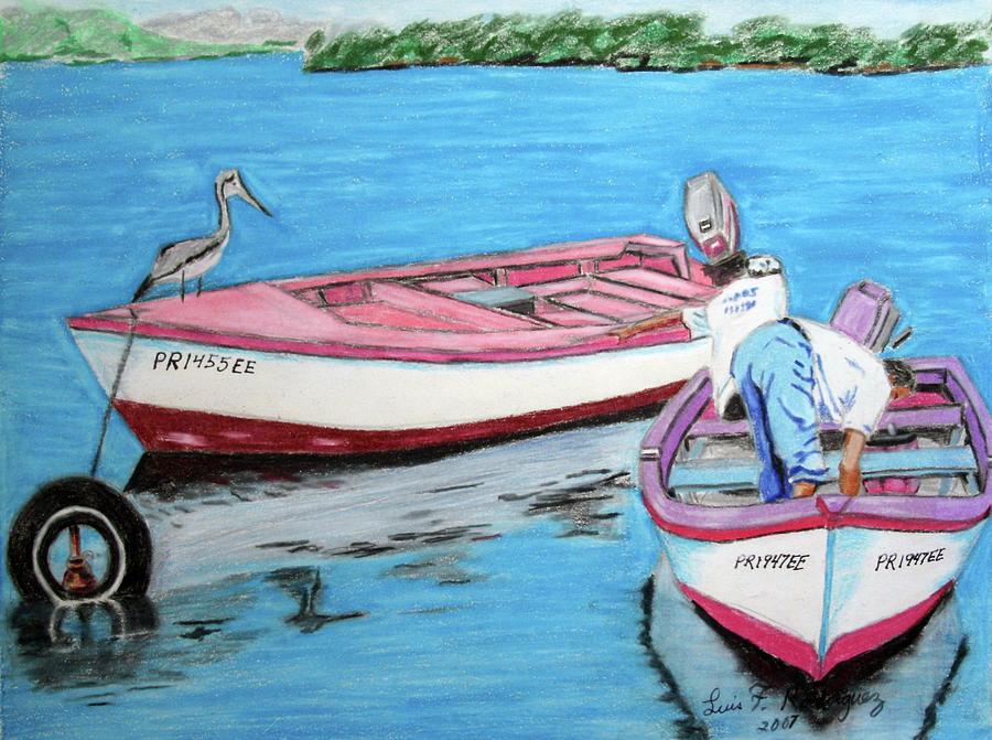 Guanica Painting - El Pescador De Guanica by Luis F Rodriguez