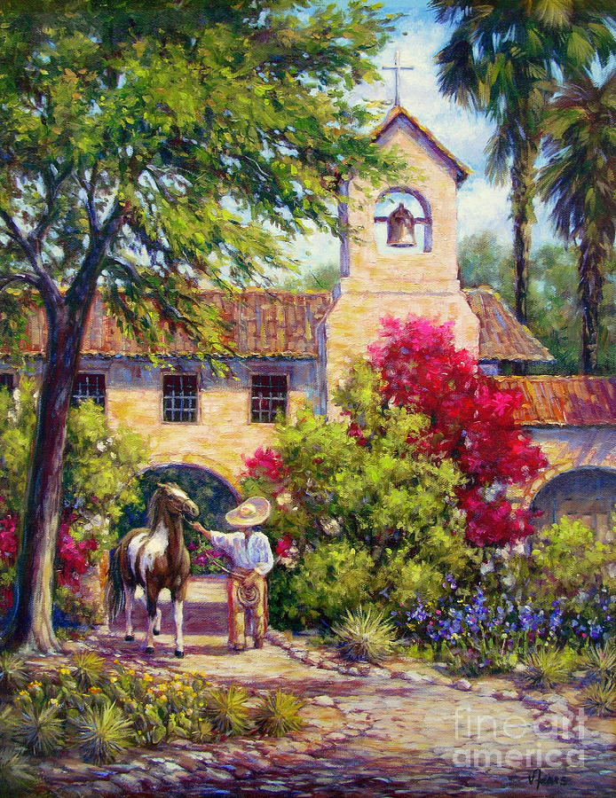 Horse Painting - El Potro by Vickie Fears