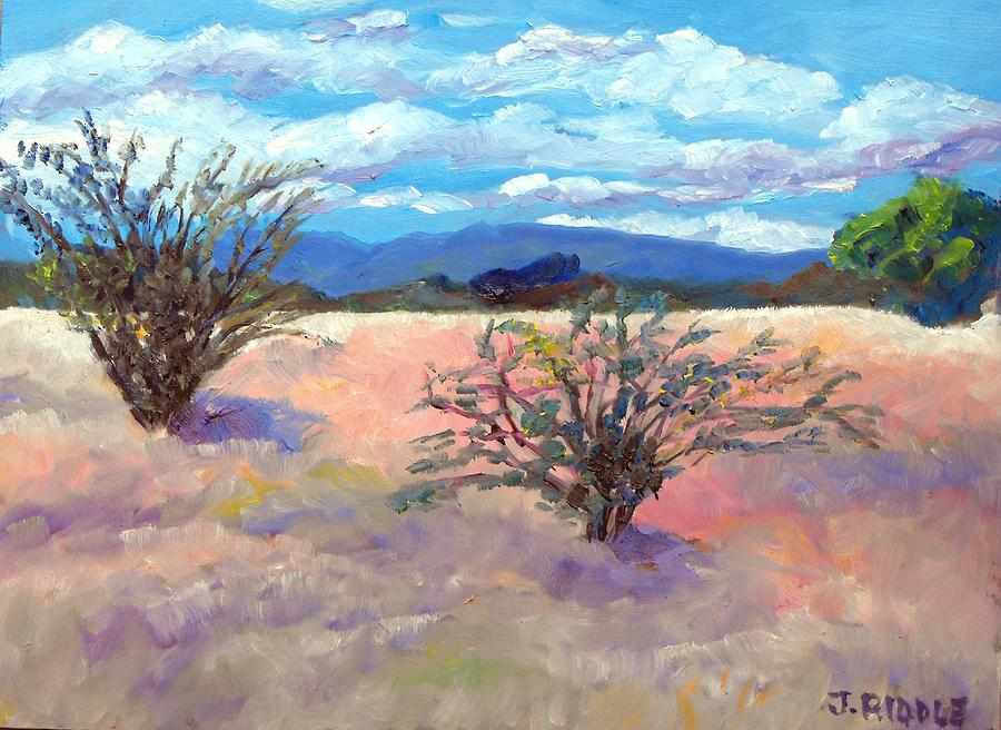 Mexico Painting - El Rancho Fields by Jack Riddle