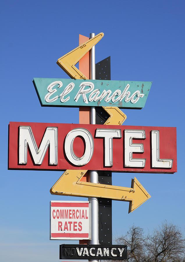 Antique Photograph - El Rancho Motel Stockton Ca by Troy Montemayor