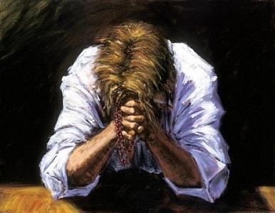 Distressed Painting - El Rezo by Fabian Perez