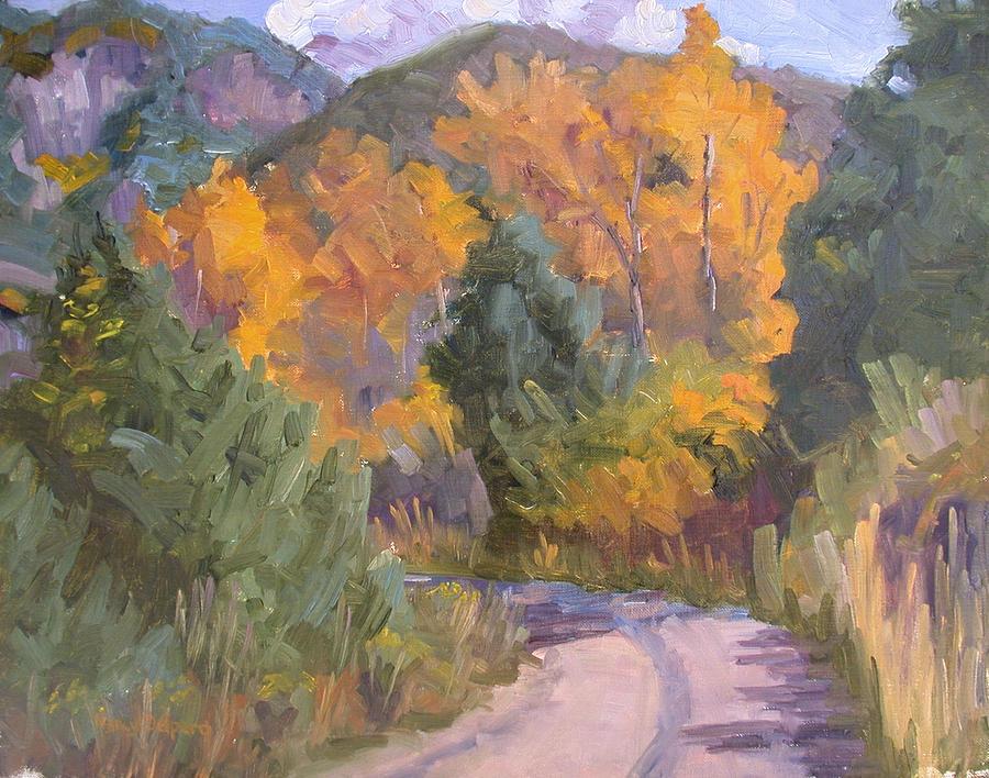 Fall Painting - El Salto Beauty by Nancy Delpero