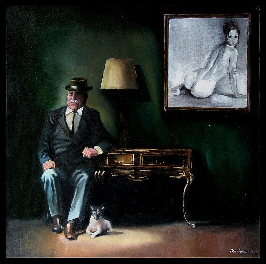 Figurative Painting - El Sueno Del Retrato by Ariel Gulluni