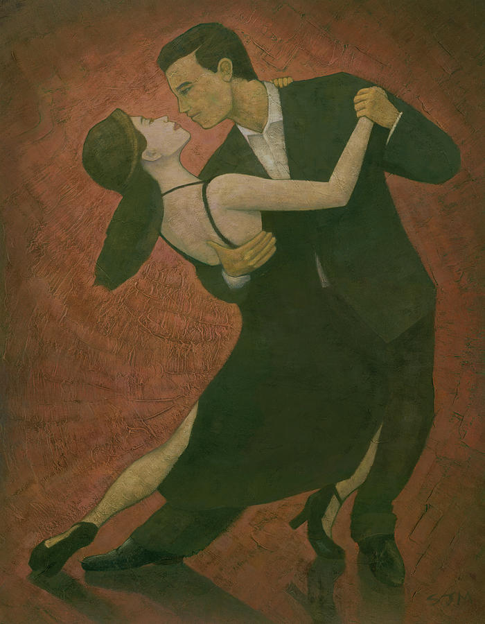 Tango Painting - El Tango by Steve Mitchell