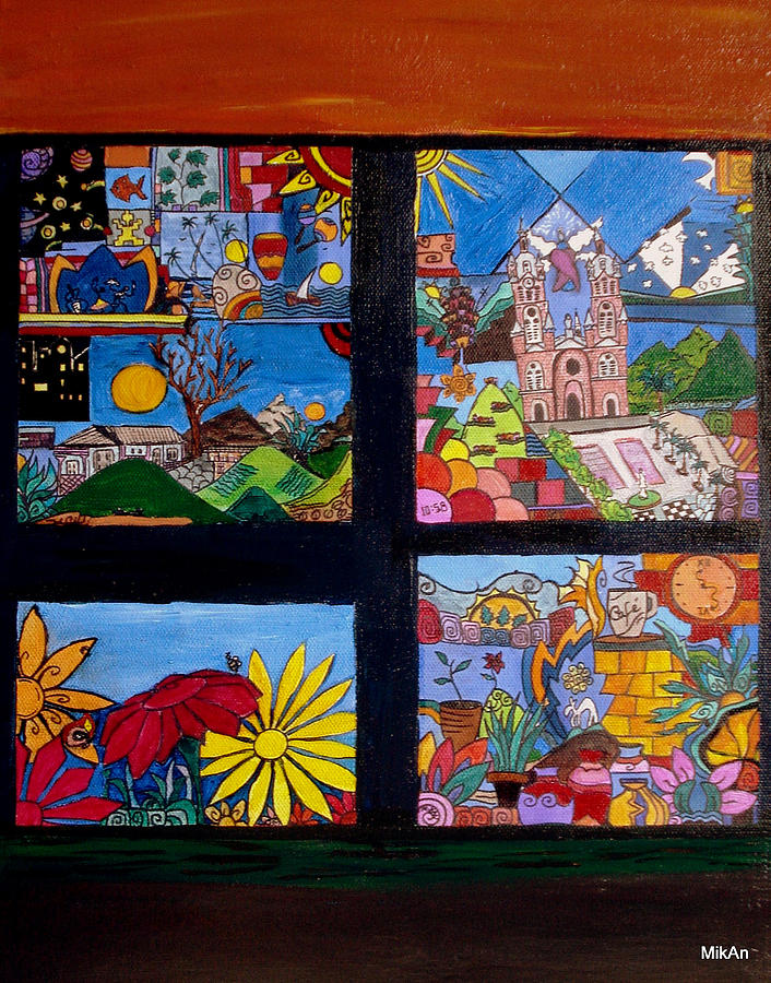 Flowers Painting - El Temblor by MikAn sArt