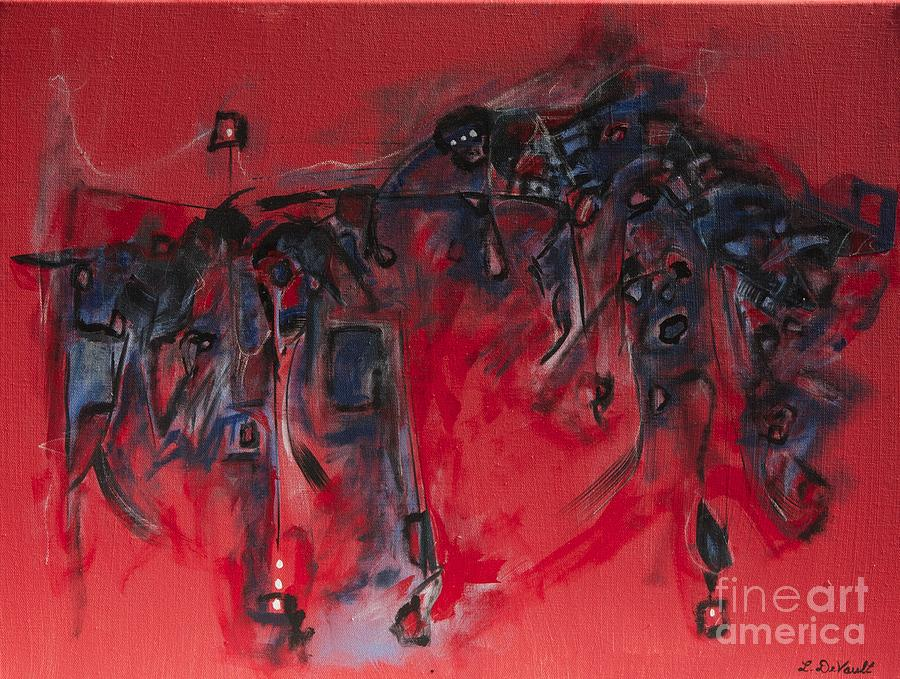 Abstract Painting - El Toro by Laurie DeVault