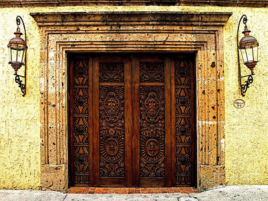 Tlaquepaque Photograph - Elaborate Puerta by Mexicolors Art Photography