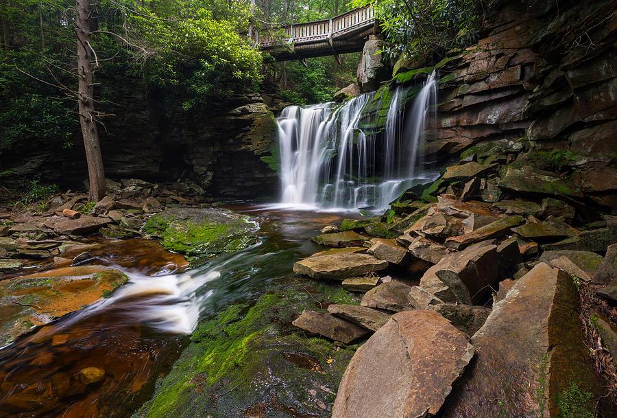 Elakala Falls on Shays Run Blackwater Falls State Park by Rick Dunnuck