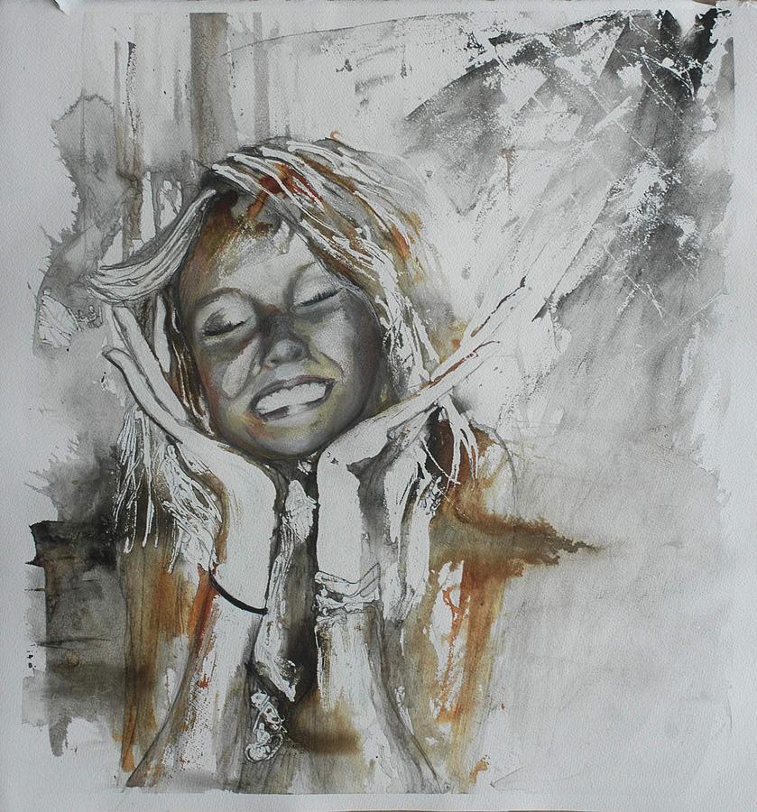 Portrait Painting - Elation by Anne-D Mejaki - Art About You productions