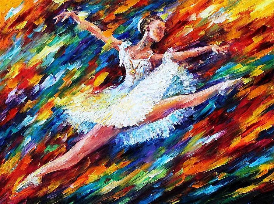 Art Gallery Painting - Elation - Palette Knife Oil Painting On Canvas By Leonid  Afremov by