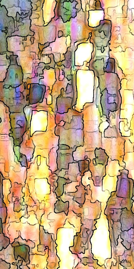 Abstract Digital Art - Elation Panel Two Of Two by Linda Mears