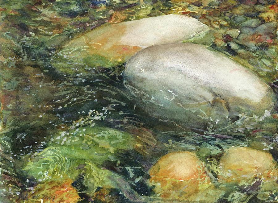 Elbow River Rocks 2 Painting By Madeleine Arnett