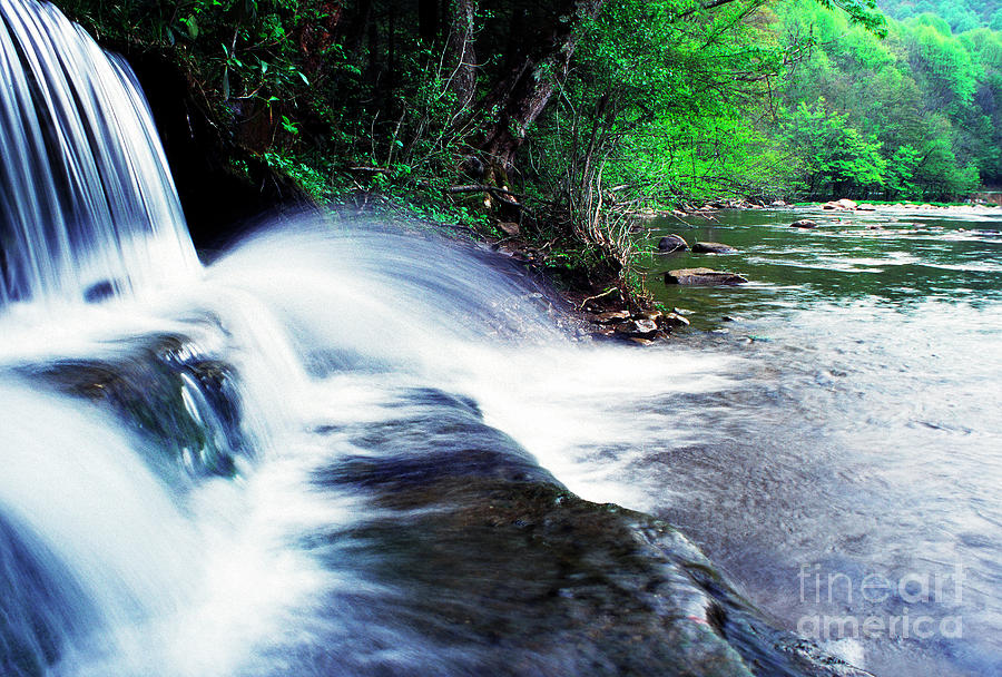 West Virginia Photograph - Elbow Run Flowing Into Williams River by Thomas R Fletcher