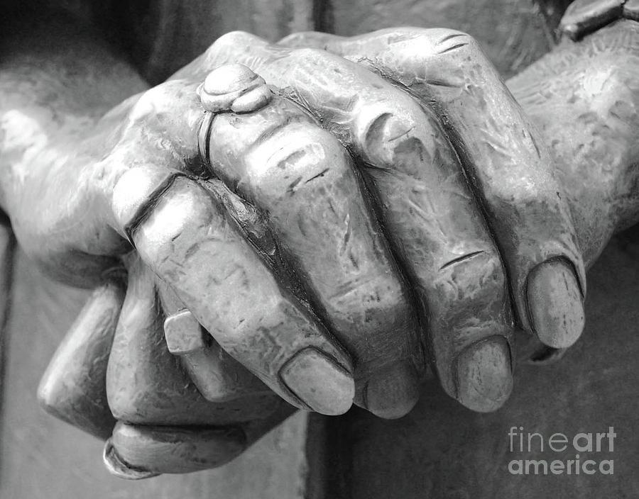 Elderly Photograph - Elderly Hands by Jost Houk
