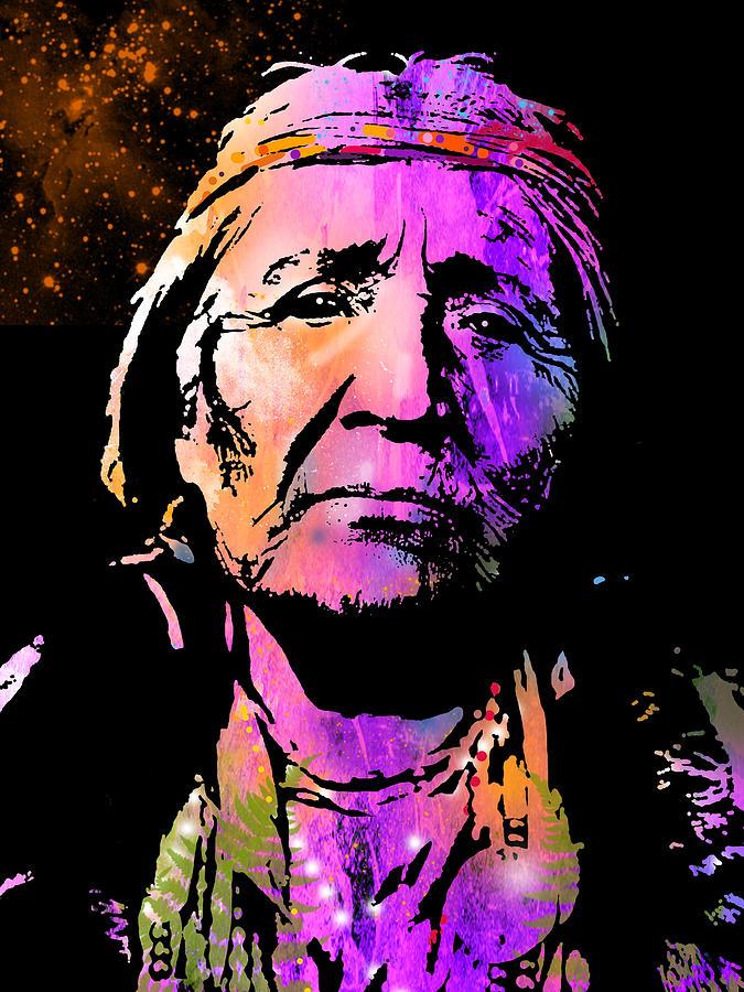 Native Americans Painting - Elderly Hupa Woman by Paul Sachtleben