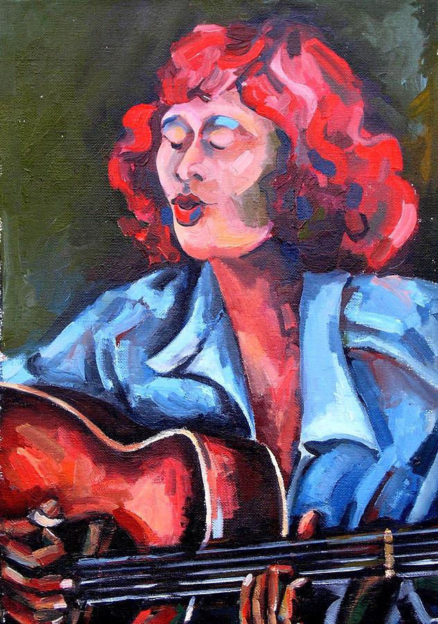 Eleanor Ellis - Diving Duck Blues Painting by Jackie Merritt