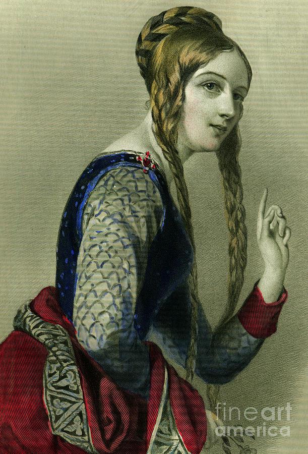 Eleanor Of Aquitaine Painting - Eleanor of Aquitaine, Queen of Henry II by English School