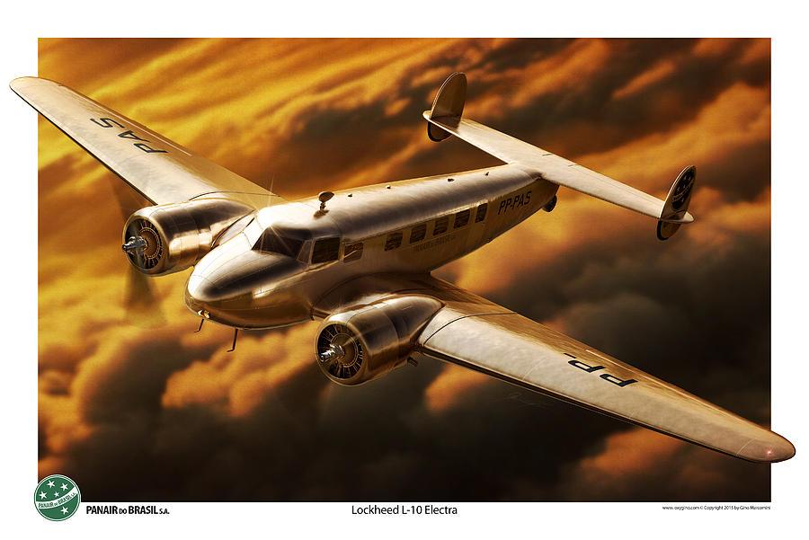 Lockheed Digital Art - Electra by Gino Marcomini