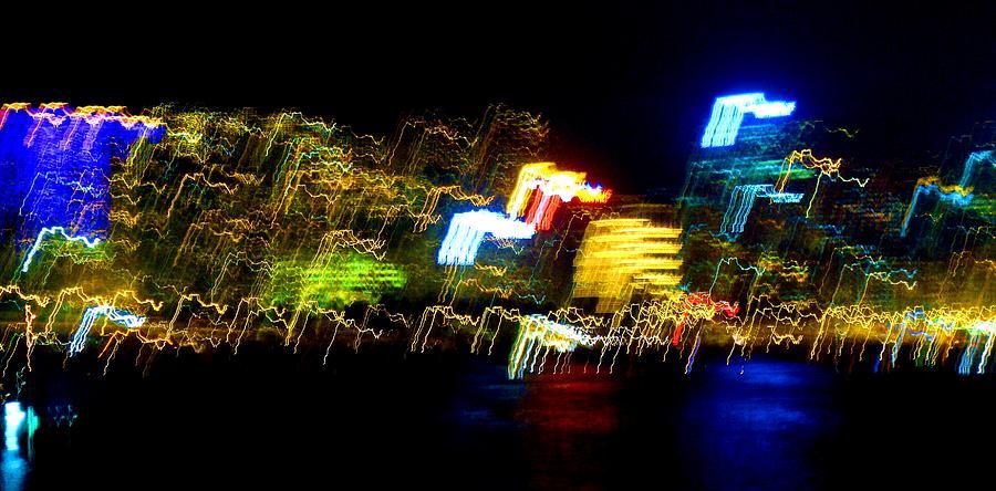 Night Photograph - Electri City by Roberto Alamino