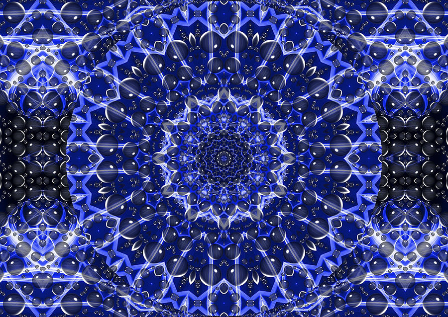 Digital Digital Art - Electric Blue Mandala by Thomas  MacPherson Jr