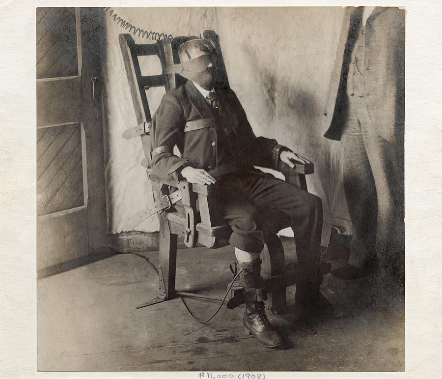Human Photograph - Electric Chair, 1908 by The Branch Librariesnew York Public Library