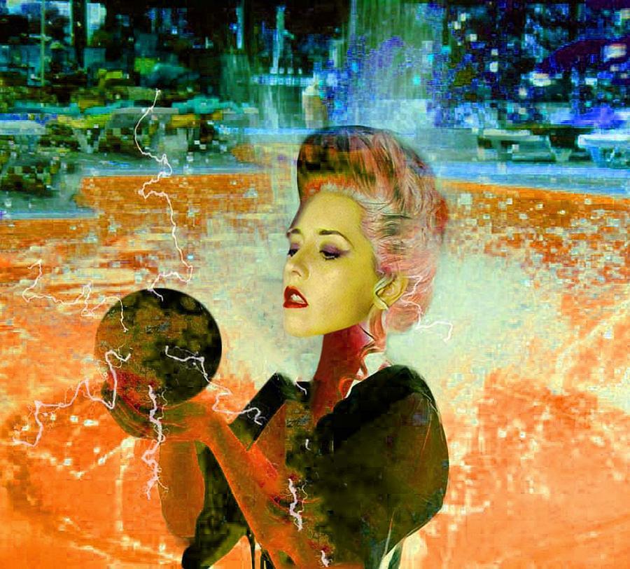 Machine Digital Art - Electric Cyborg  by Matthew Lacey