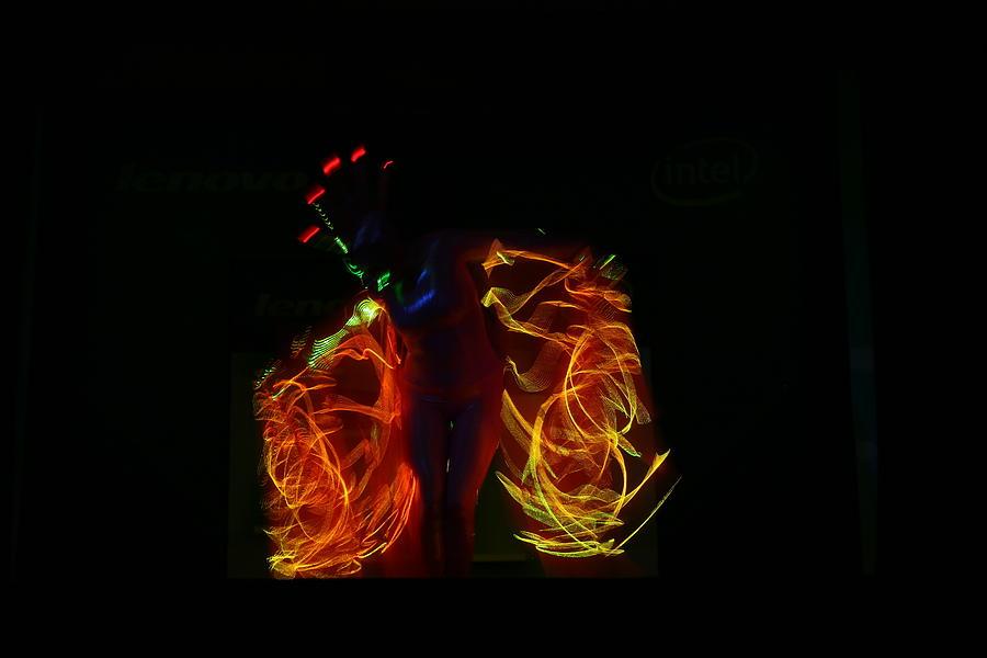 Abstract Photograph - Electric Dancer..3 by Deepak Pawar