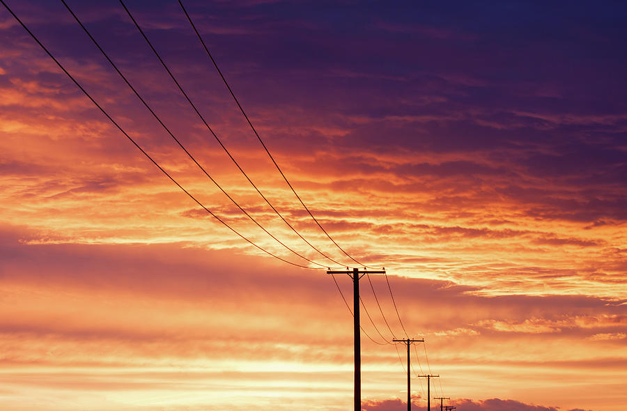 Electrical Photograph - Electric Evening by Todd Klassy