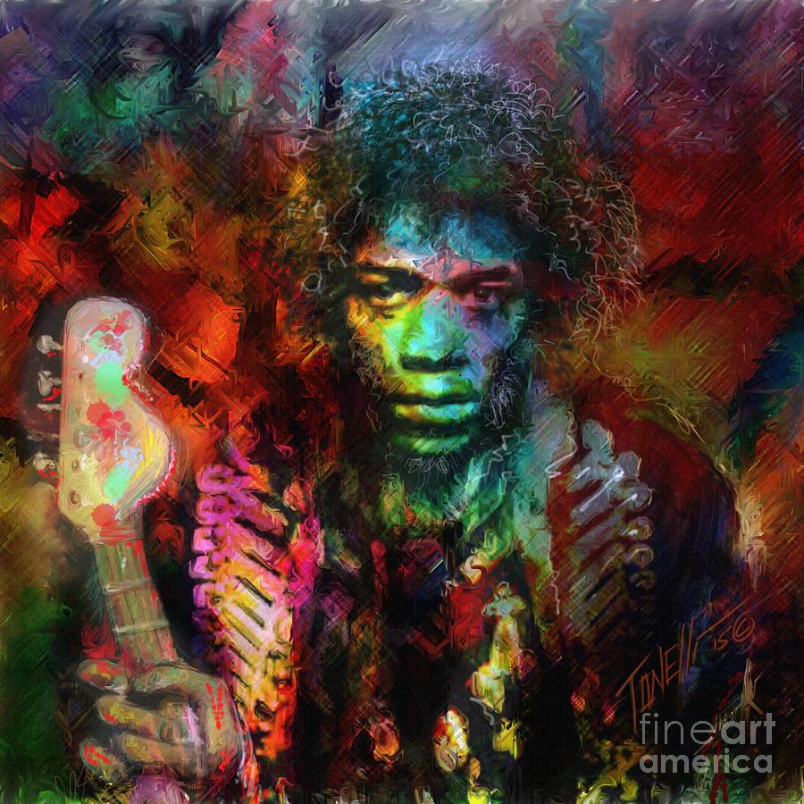 Jimmy Hendrix Electric Lady Land... Mixed Media