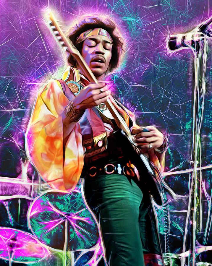 Jimi Hendrix Mixed Media - Electric Ladyland, Jimi Hendrix by Mal Bray