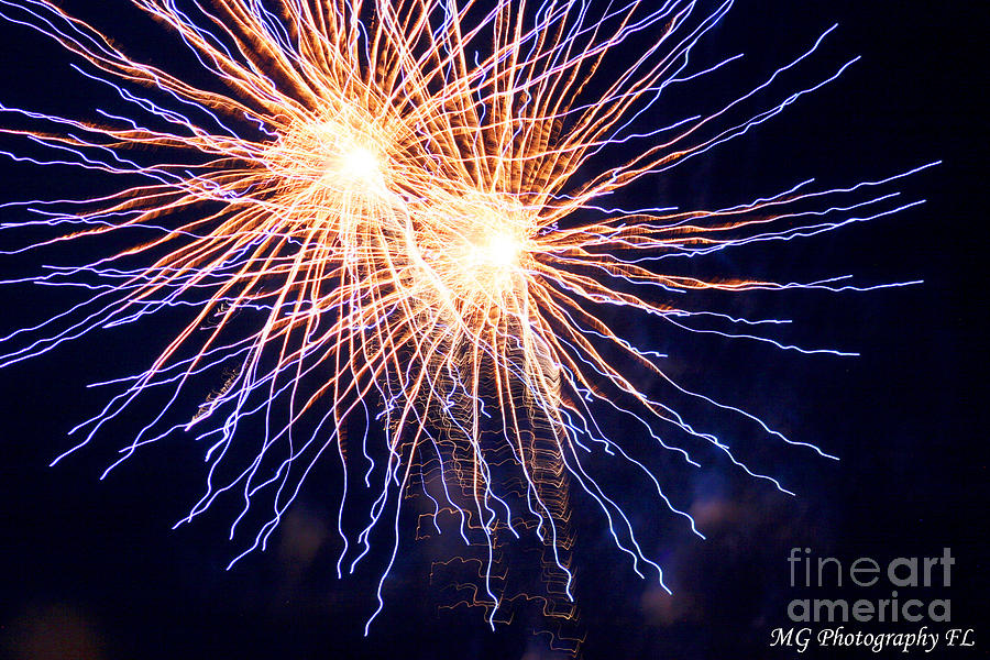 Fireworks Photograph - Electric Lights by Marty Gayler
