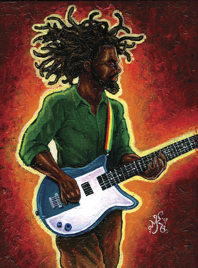 Guitar Painting - Electric by Marcus Anderson