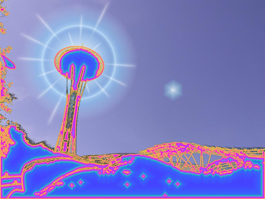 Seattle Photograph - Electric Needle by Tim Allen