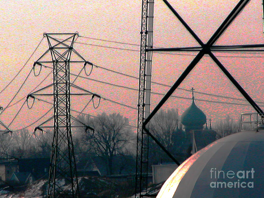 Cleveland Photograph - Electric Onion Domes by Donna Stewart