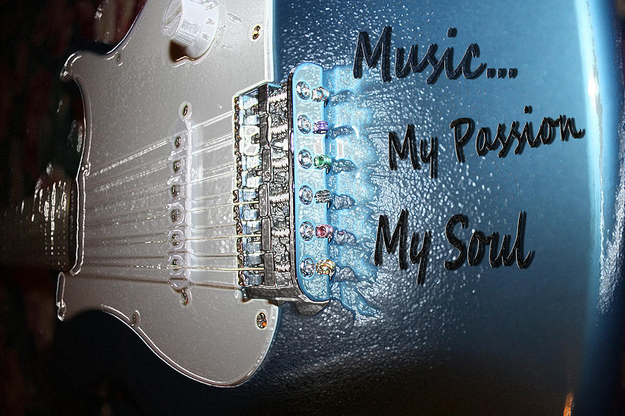 Guitar Photograph - Electric Passion And Soul  by Cathy Beharriell