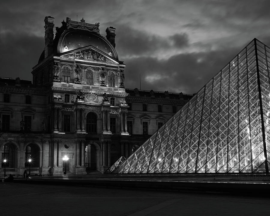 Electric Pyramid, Louvre, Paris, France by Richard Goodrich