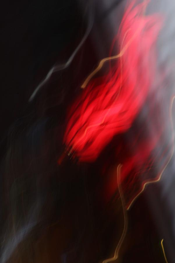 Abstract Photography Photograph - Electric Red And Yellow by Karin Kohlmeier