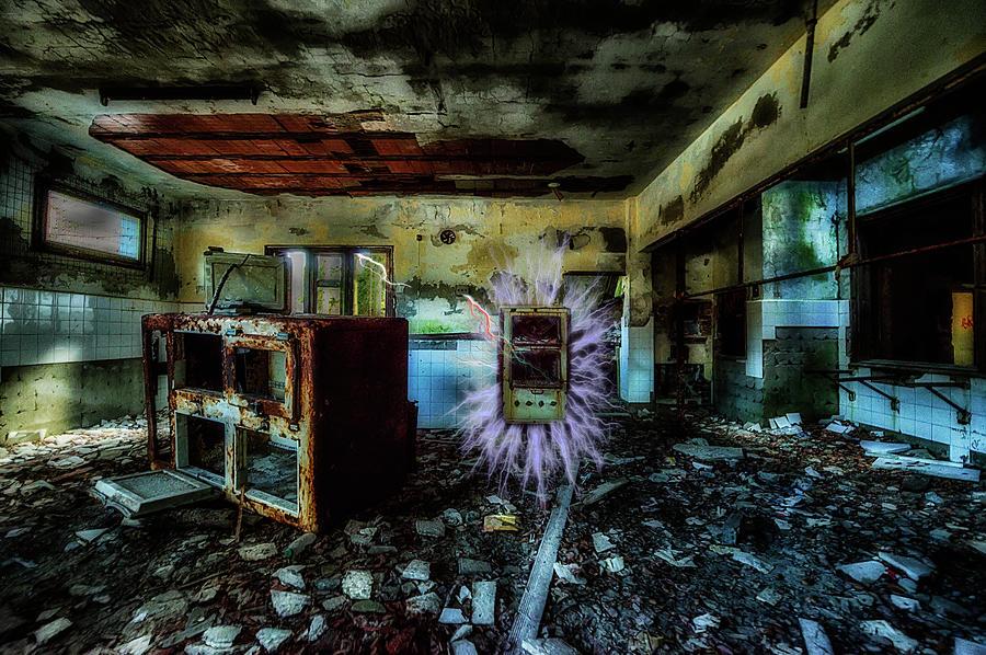 Abandoned Hotel Photograph - Electric Shock On Abandoned Hotel On Liguria Mountains - Pericolo Di Scossa Nellhotel Abbandonato by Enrico Pelos